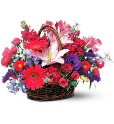 Birthday Blooms Basket from The Colony House, your florist in Shreveport, LA