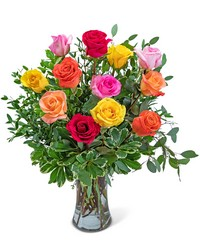 One Dozen Vibrant Roses from The Colony House, your florist in Shreveport, LA