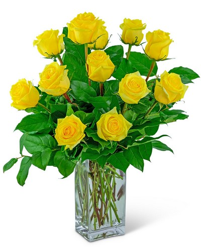Yellow Roses (12) from The Colony House, your florist in Shreveport, LA
