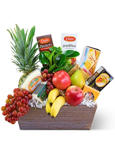 Classic Fruit and Cheese Basket from The Colony House, your florist in Shreveport, LA