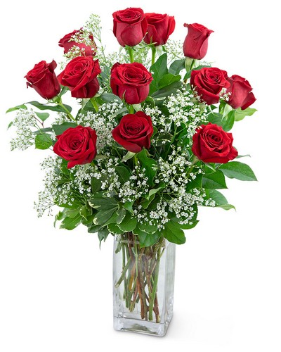 Dozen Roses in a Cloud from The Colony House, your florist in Shreveport, LA