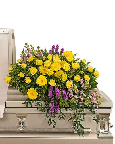 Sunshine from Heaven Casket Spray from The Colony House, your florist in Shreveport, LA