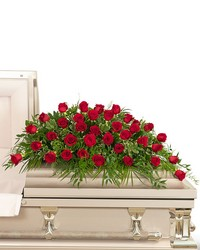 36 Red Roses Casket Spray from The Colony House, your florist in Shreveport, LA