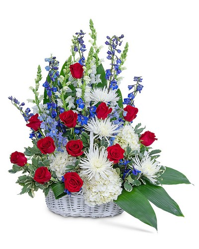 Freedom Tribute Basket from The Colony House, your florist in Shreveport, LA
