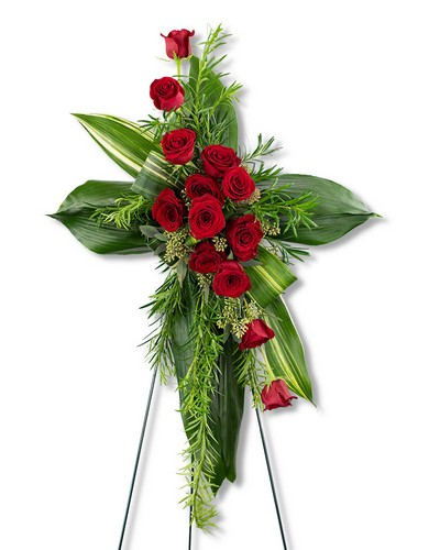 Abiding Love Cross from The Colony House, your florist in Shreveport, LA