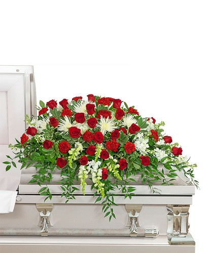 Serene Sanctuary Casket Spray from The Colony House, your florist in Shreveport, LA