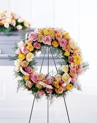 Vibrant Sympathy Wreath from The Colony House, your florist in Shreveport, LA
