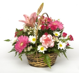 Perfectly Pink Basket from The Colony House, your florist in Shreveport, LA