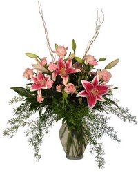 Lily and Rose Splendor from The Colony House, your florist in Shreveport, LA
