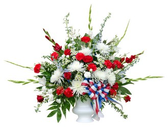 Red, White, and Blue Tribute from The Colony House, your florist in Shreveport, LA