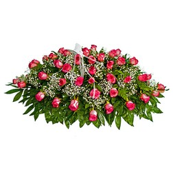 Rose Casket Spray from The Colony House, your florist in Shreveport, LA