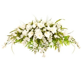White Casket Spray from The Colony House, your florist in Shreveport, LA