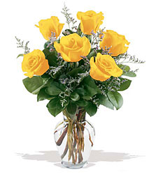 6 Yellow Roses from The Colony House, your florist in Shreveport, LA